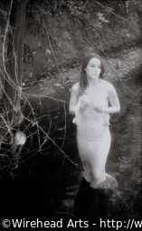 Melinda in the creek