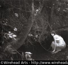 Melinda by the creek, in infrared