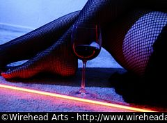 Spiz, neon, wine, and fishnets